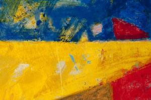 Henri Castella, French painter, Lyon La croix rousse detail. Abstract painting. Colorfull.