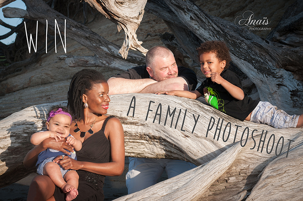 Win a family Photoshoot with Anais Chaine Photography in Auckland