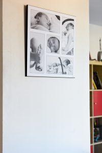 impression jet d'encre montage couleur ou noir et blanc lamine sur bois sans reflet