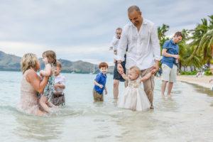 Family fun in the sea at Fiji Island Resort
