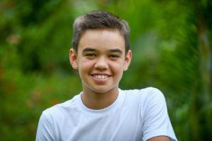 Portrait of a teenager in Fiji
