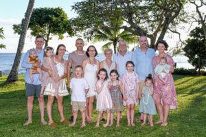 Family group portrait at the Shangri La Fiji