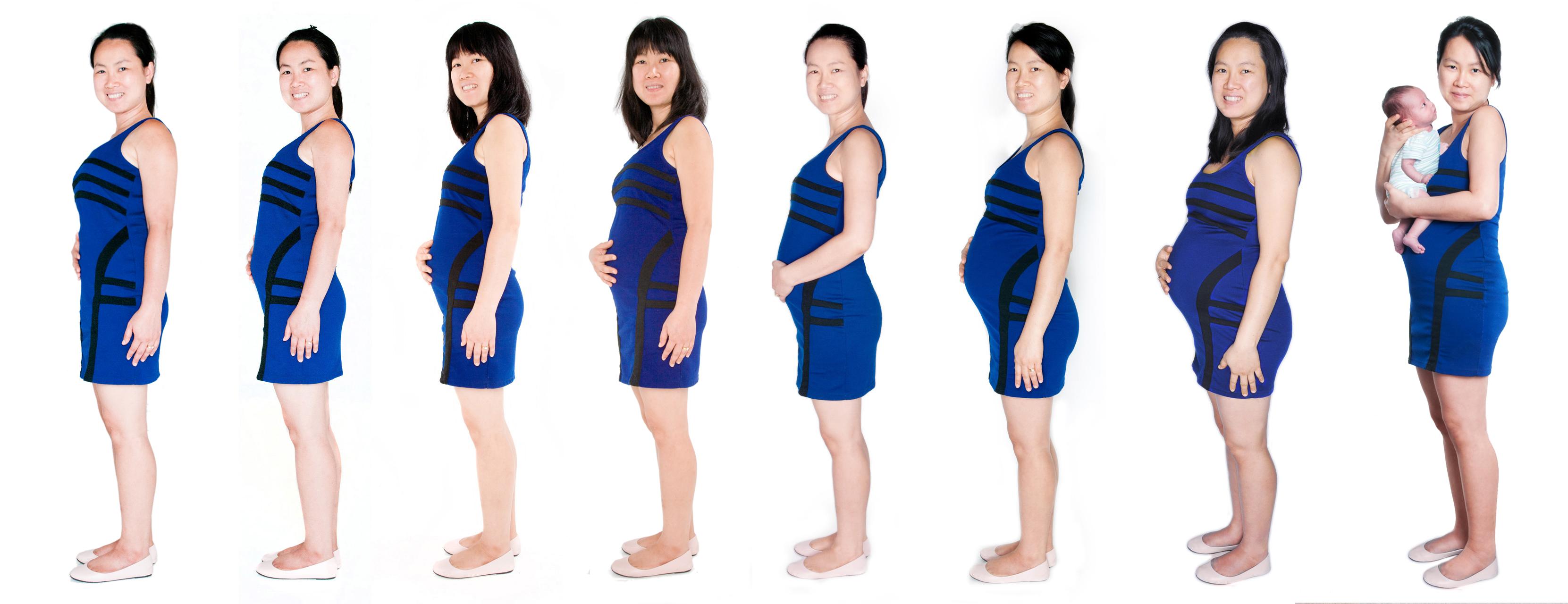 Nine Month pregnancy evolution photographer