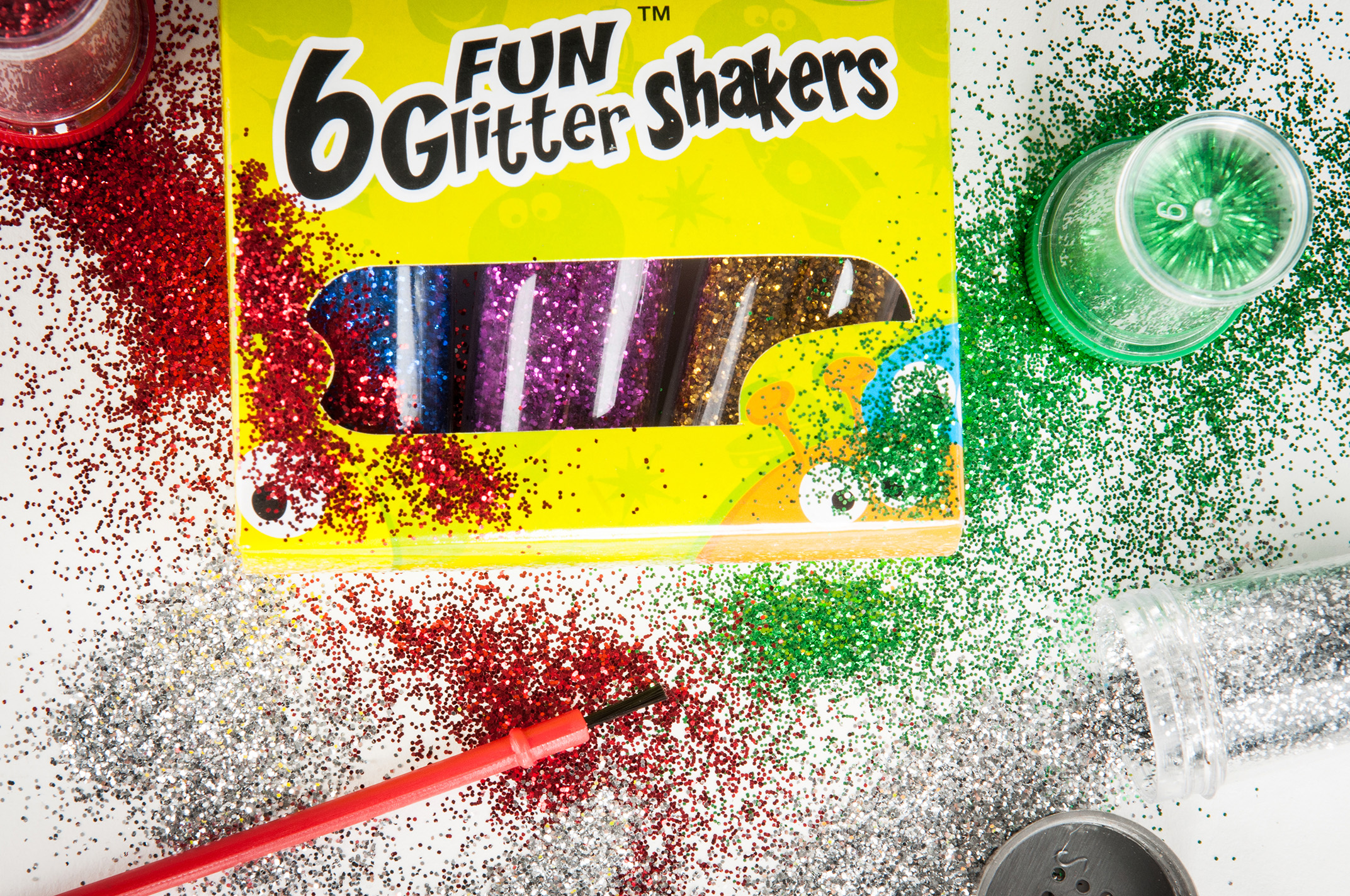 Croxley glitter shakers product photography auckland