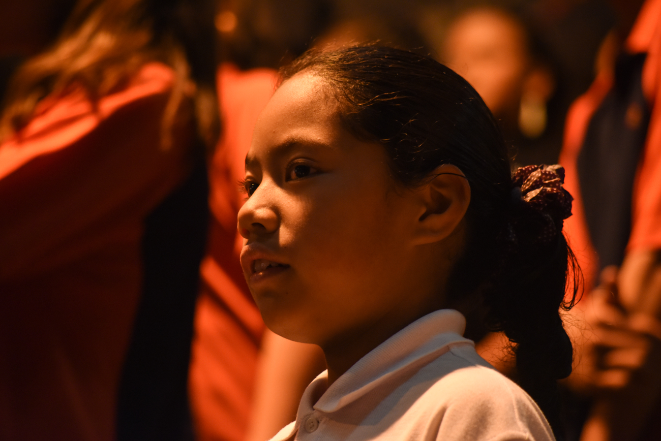 Portrait of a girl in a choral