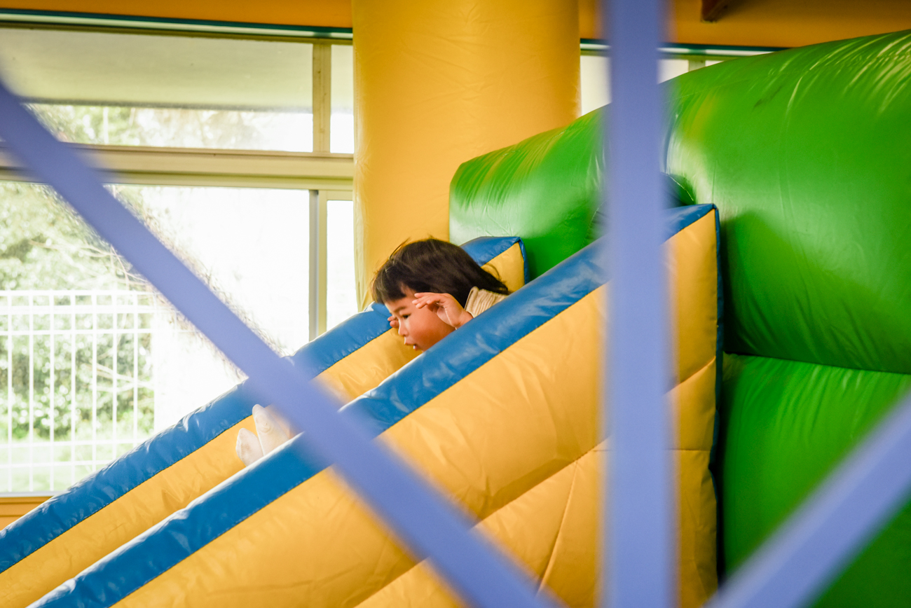 Young child on a slide