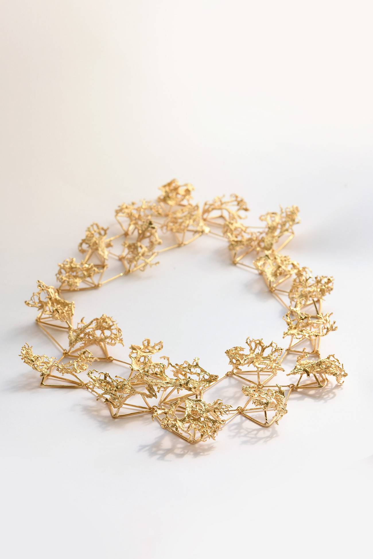 On the same wavelength, gold plated brass necklace
