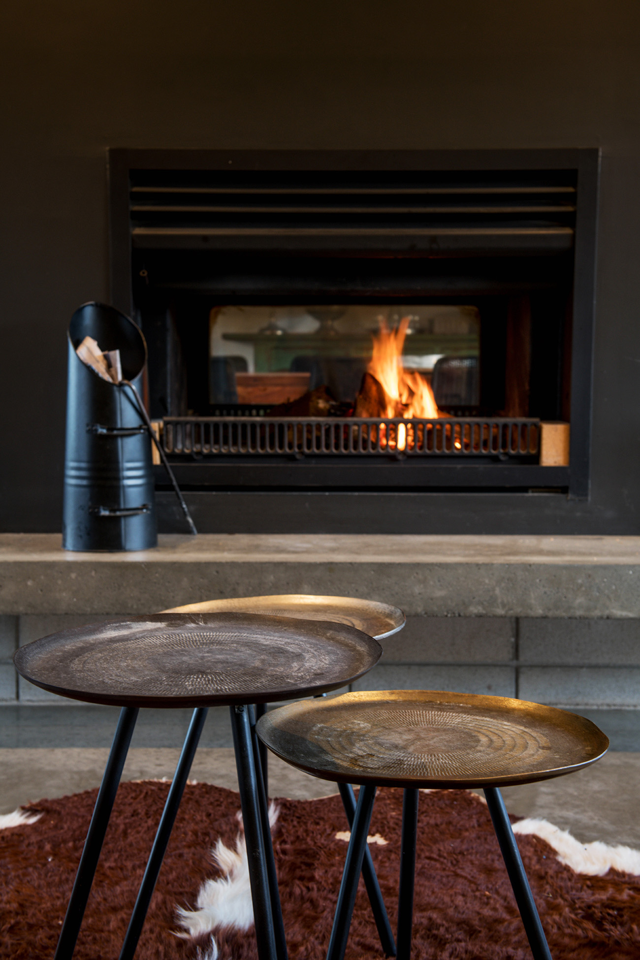 architecture photographer detail living room fireplace