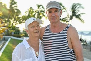 Portrait of a couple at the Sofitel Denerau beach by sunset