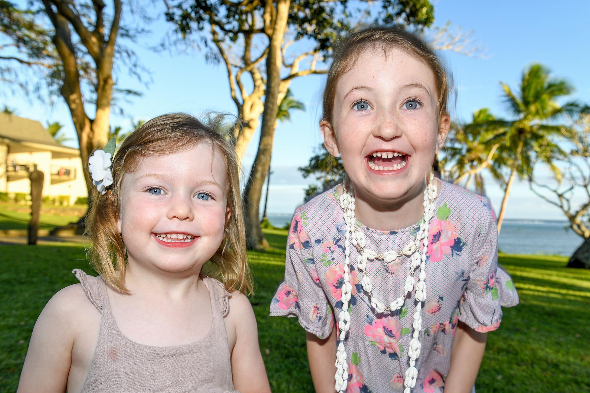 spontaneous Portrait of sisters in Fiji
