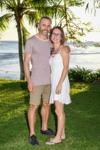 Portrait of a couple on the Shangril (coral coast) lawn