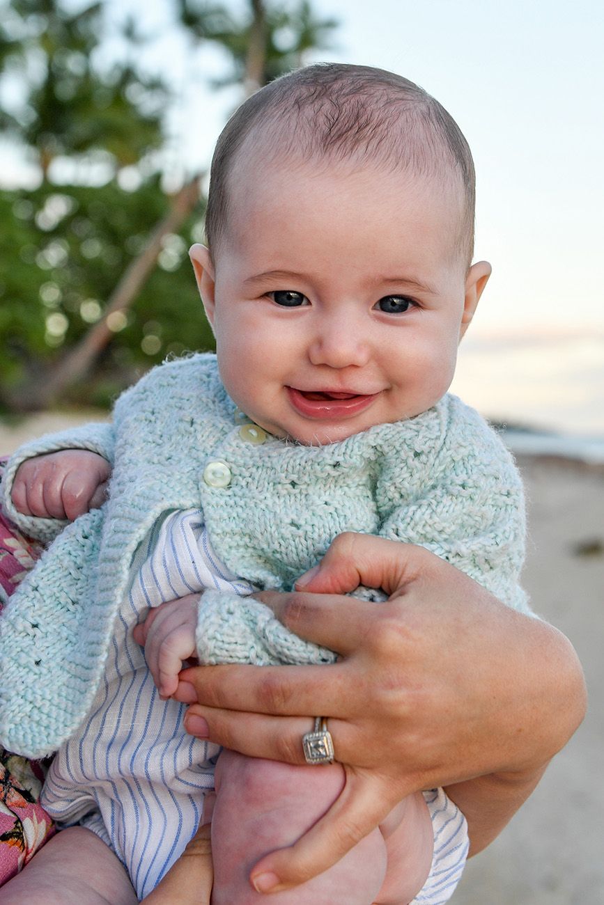 Portrait of a baby smiling