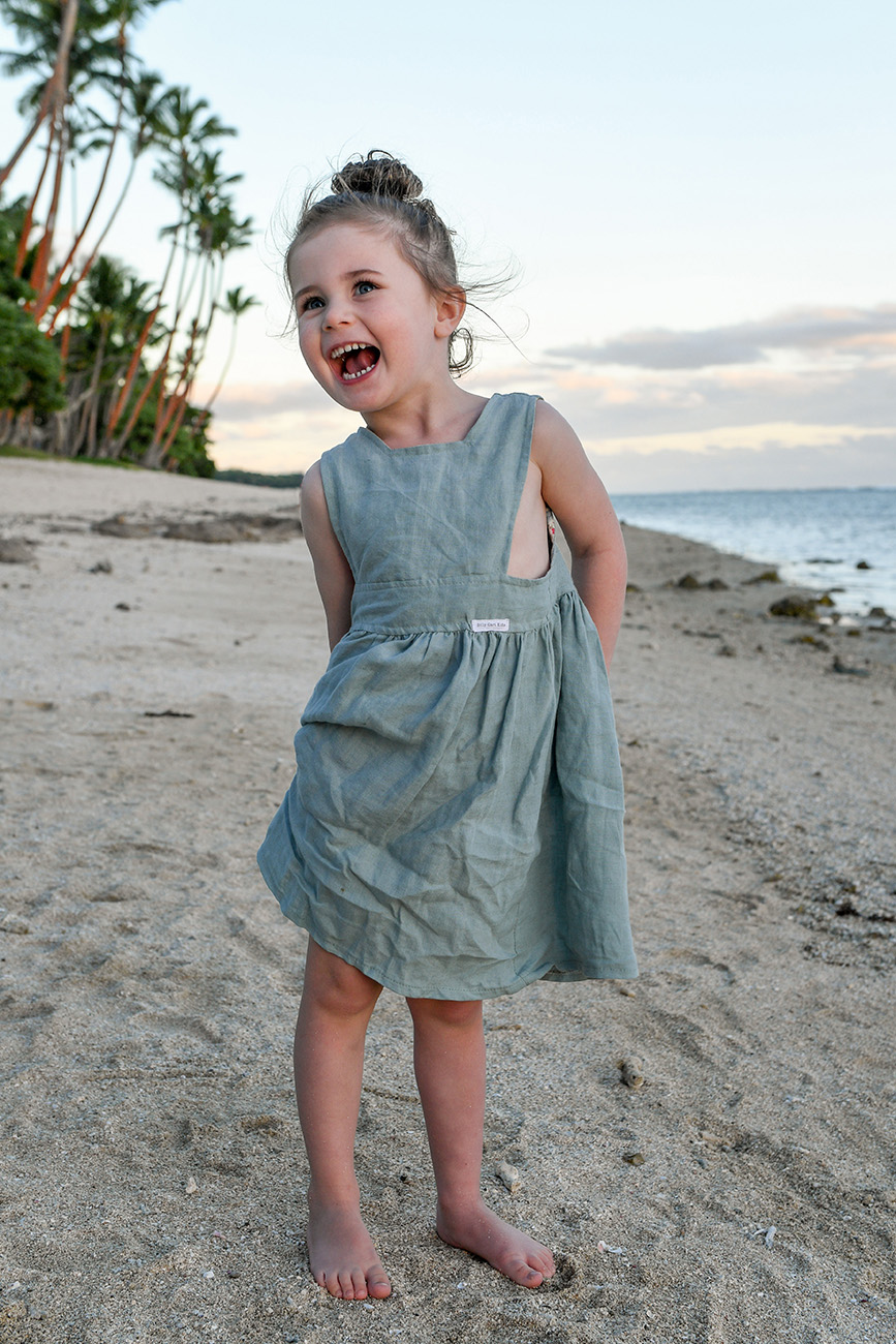 candid portrait of a girl on the beach