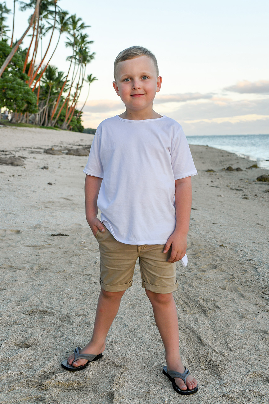 Portrait of a young boy at the beach