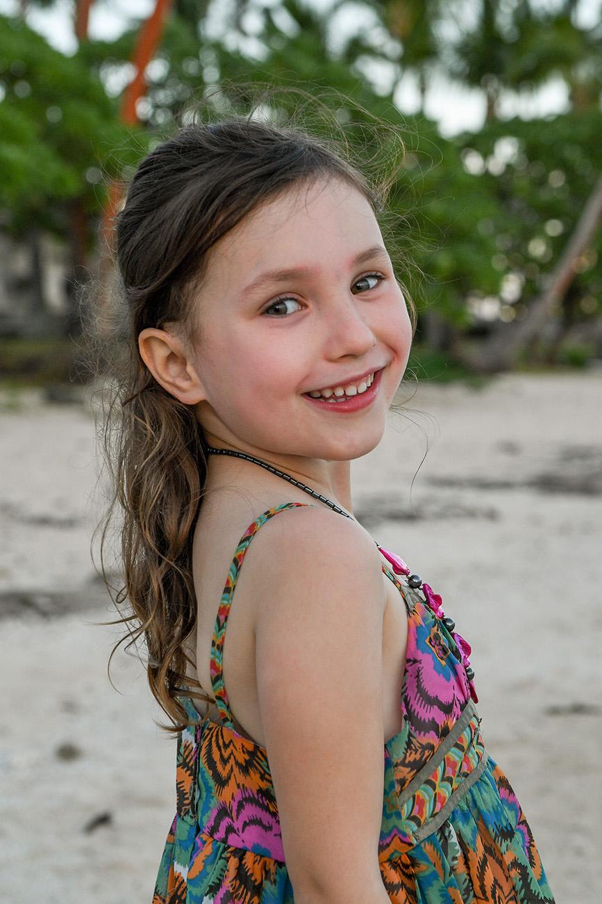 Portrait of a girl at the Shangri La in Fiji